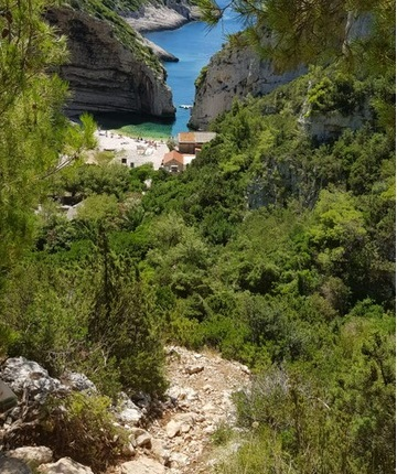 Goth path that leads to Stiniva beach on the island Vis